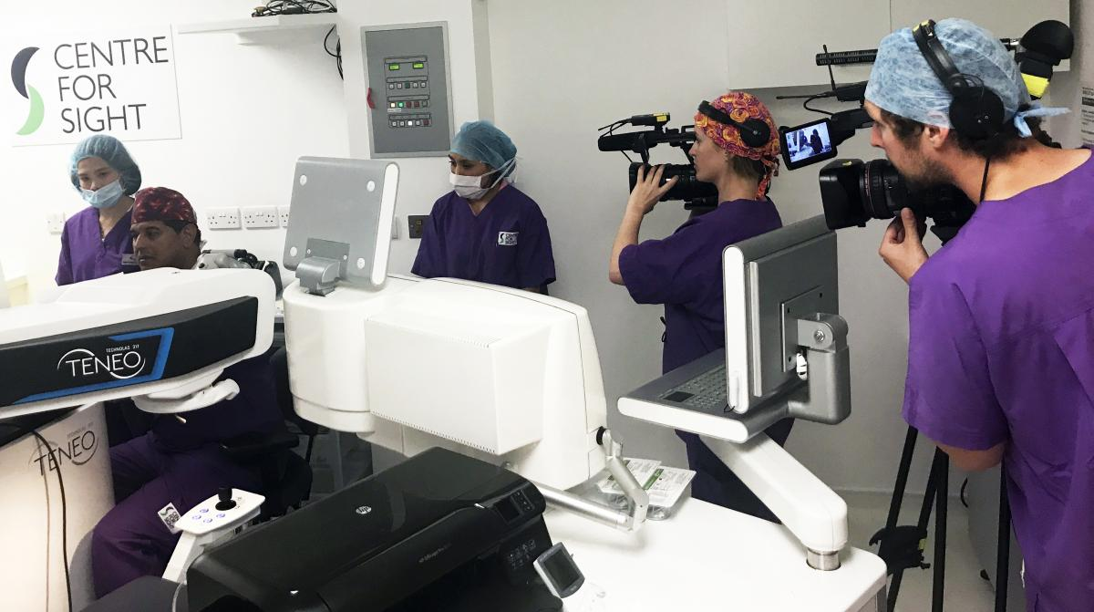 Rip Off Britain Filming Crew at Centre for Sight