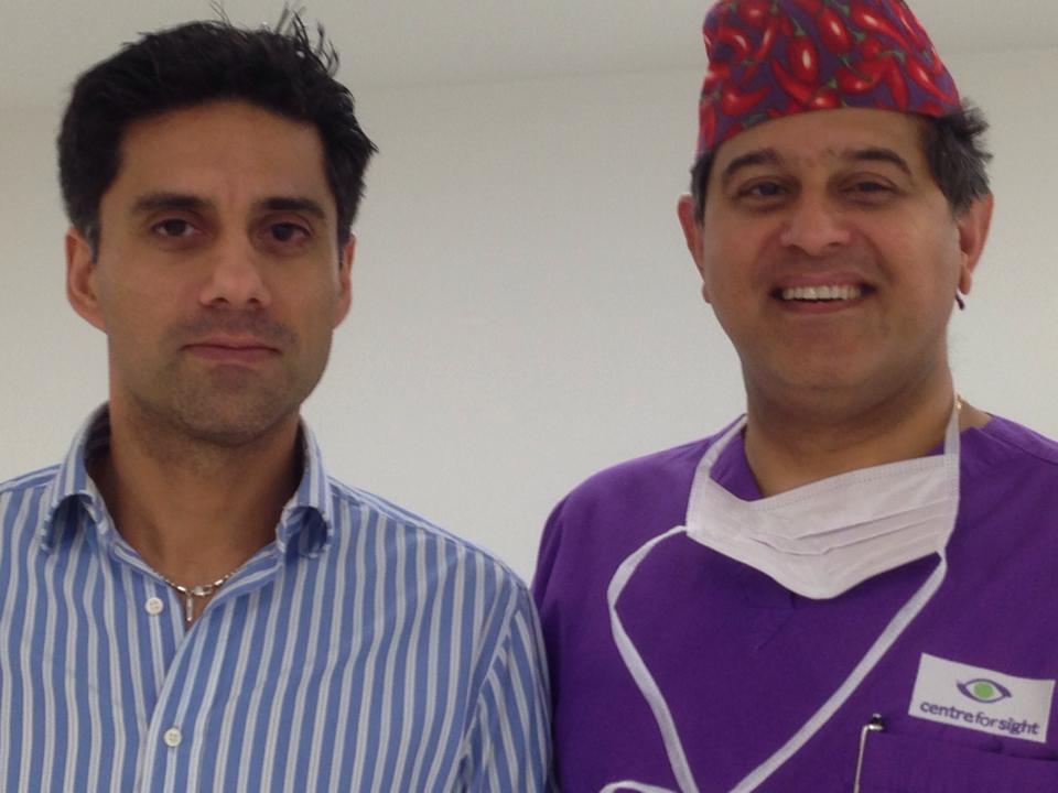 Samir Alvi with Sheraz Daya