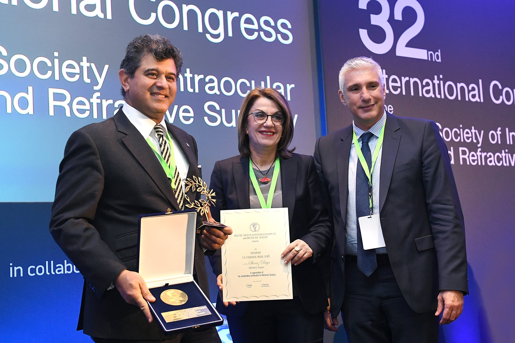Sheraz Daya awarded the Fyodorov Medal in Greece