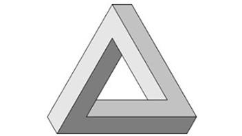 Optical illusion – 3D triangle rectangle
