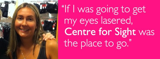 Gina Houghton sharing her Lasik experience at Centre for Sight