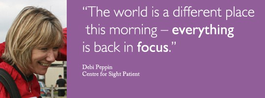 Debi Peppin from Surrey shares her Lasik review with Centre for Sight
