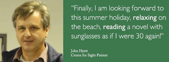 John Hyett shares his Lasik experience at Centre for Sight