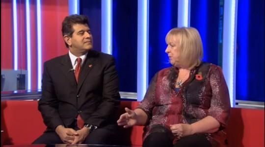 Sheraz Daya and Violet Baldry on Sky News
