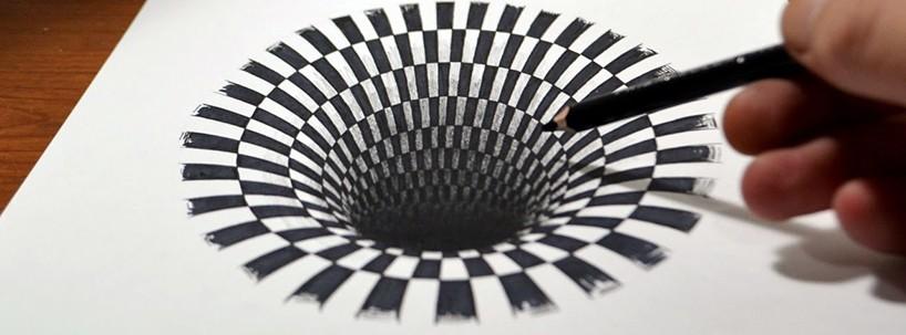 Drawn optical illusions