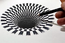 Drawn optical illusions