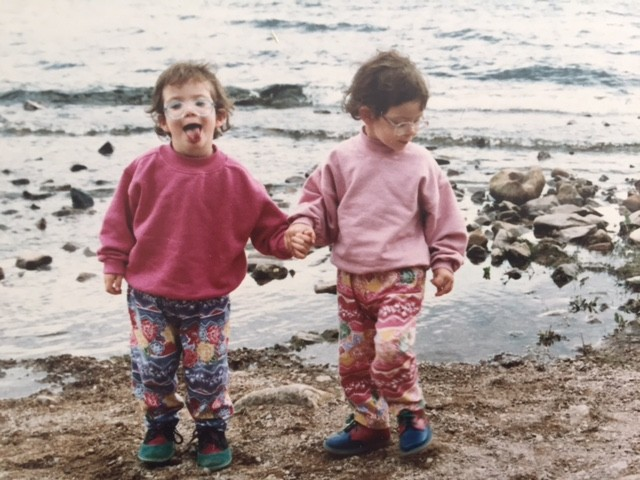 Younger Lucy and Sister with glasses