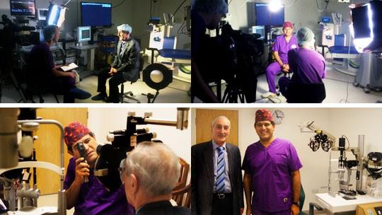 Patrick Condon having surgery at Centre for Sight