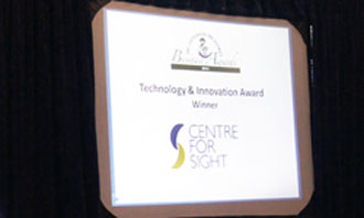 Technology and Innovation award – Centre for Sight winners