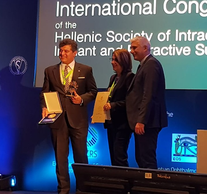 Mr Sheraz Daya awarded Fyodorov medal in Athens, Greece