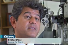 Sheraz Daya on 5 News talking about AMD and stem Cells